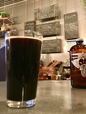 Our Blueberry Oatmeal Outstanding Breakfast Stout.