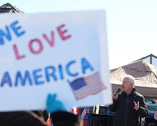 Rep. Bill Johnson(R-Ohio 6th) speaks to supporters of President Donald Trump at the Summitville Tile parking lot on 224, Saturday, March 4, 2017 in Boardman. ..(Nikos Frazier | The Vindicator)..