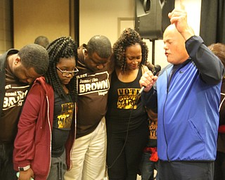 William D. Lewis the vindicator  Tito Brown reacts to news he won mayoral primary.  With him are family members