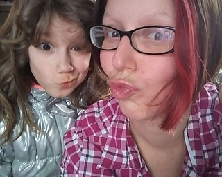 Lilly Armstrong, 8, sent in this photo of her mugging with her mom, Jennifer Armstrong. Both are from Girard.