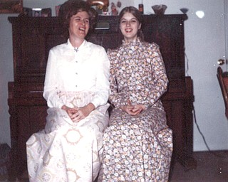 This photo from 1971 features Jacquelin Hays of Rogers, and her mother, Roberta Gillam of New Waterford, wearing maxi dresses, a popular style of the day.