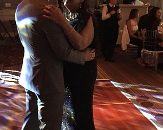 Bill Christian shares a mother-son dance with Darlene Christian. They are both from Poland.