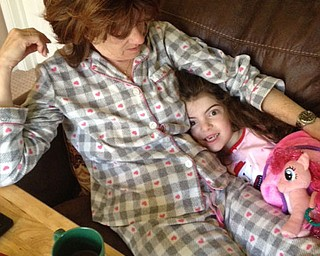 Judith Richley of Canfield hosted a pajama party for her granddaughter, Joselyn Richley, 6, of Poland.