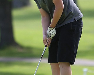 Benjamin Martin(U-14) putts into the 4th hole during the 2017 Vindicator Greatest Golfer Junior Qualifier, Saturday, May 20, 2017 at Pine Lakes Golf Course in Hubbard...(Nikos Frazier   The Vindicator)..