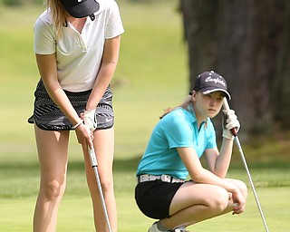 Jenna Jacobson(U-17) putts on the 7th hole during the 2017 Vindicator Greatest Golfer Junior Qualifier, Saturday, May 20, 2017 at Pine Lakes Golf Course in Hubbard...(Nikos Frazier   The Vindicator)..