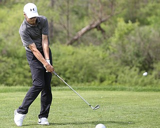 Kyle Koziel(U-17) drives on hole 12 during the 2017 Vindicator Greatest Golfer Junior Qualifier, Saturday, May 20, 2017 at Pine Lakes Golf Course in Hubbard...(Nikos Frazier   The Vindicator)...