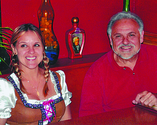 Amy Carrano Simeone with dad John A. Simeone of Canfield.