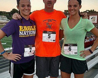 Rachael, dad Brad Amos and Megan of Salem.