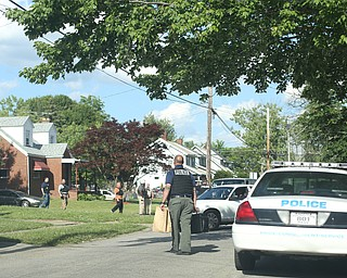 as Youngstown Police search a house on the 200 block of E Judson Ave, Thursday, June 1, 2017 in Youngstown...(Nikos Frazier | The Vindicator)