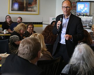 Democratic National Committee (DNC) chairman Tom Perez speaks at Wedgewood Pizza, Friday, June 9, 2017 in Boardman. Perez visited Ohio two days after President Donald Trump spoke in Cincinnati, which Perez stopped in on Thursday...(Nikos Frazier | The Vindicator)