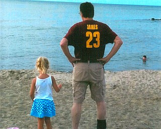 Mena Monroe with her dad Russ at Presque Isle in Erie.