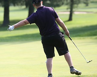 Matthew Kinkela(U-17) tries to get his put to lean into hole 16 during the Greatest Golfer of the Valley Junior Qualifier at Tam O'Shanter Golf Course, Thursday, June 15, 2017 in Hermitage...(Nikos Frazier | The Vindicator)