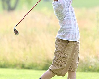 Gavin Pahanish(U-14) drives on hole 14 during the Greatest Golfer of the Valley Junior Qualifier at Tam O'Shanter Golf Course, Thursday, June 15, 2017 in Hermitage...(Nikos Frazier   The Vindicator)