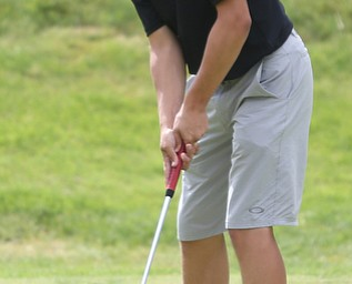 Kyle Koziel(U-17) putts on hole 6 during the Greatest Golfer of the Valley Junior Qualifier at Tam O'Shanter Golf Course, Thursday, June 15, 2017 in Hermitage...(Nikos Frazier   The Vindicator)
