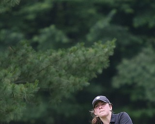 Gillian Cerimele(U-17) chips the ball onto the green on hole 7 during the Greatest Golfer of the Valley Junior Qualifier at Tam O'Shanter Golf Course, Thursday, June 15, 2017 in Hermitage...(Nikos Frazier | The Vindicator)