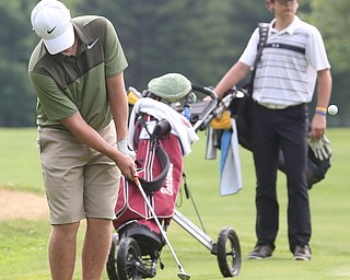 Brian Terlesky(U-17) chips the ball onto the green on hole 7 during the Greatest Golfer of the Valley Junior Qualifier at Tam O'Shanter Golf Course, Thursday, June 15, 2017 in Hermitage...(Nikos Frazier   The Vindicator)