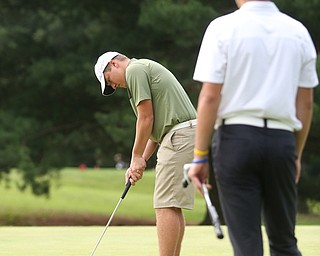 Brian Terlesky(U-17) putts on hole 7 during the Greatest Golfer of the Valley Junior Qualifier at Tam O'Shanter Golf Course, Thursday, June 15, 2017 in Hermitage...(Nikos Frazier | The Vindicator)