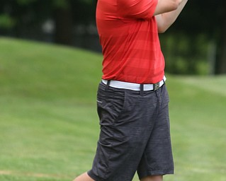 Joey Vitali(U-17) drives on hole 8 during the Greatest Golfer of the Valley Junior Qualifier at Tam O'Shanter Golf Course, Thursday, June 15, 2017 in Hermitage...(Nikos Frazier   The Vindicator)