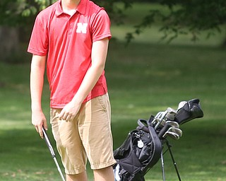 Jacob Butter(U-17) reacts after a putt on hole 6 during the Greatest Golfer of the Valley Junior Qualifier at Tam O'Shanter Golf Course, Thursday, June 15, 2017 in Hermitage...(Nikos Frazier   The Vindicator)