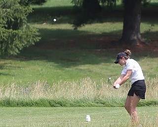 Jenna Vivo(U-17) drives on hole 14 during the Greatest Golfer of the Valley Junior Qualifier at Tam O'Shanter Golf Course, Thursday, June 15, 2017 in Hermitage...(Nikos Frazier   The Vindicator)