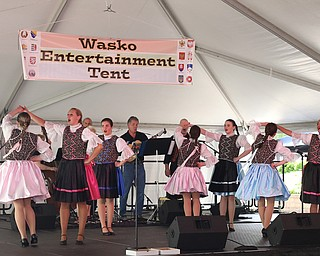 Slavjane Folk Ensemble perform during the Simply Slavic Festival at Federal Plaza East, Saturday, June 17, 2017 in downtown Youngstown...(Nikos Frazier | The Vindicator)