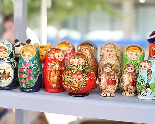 matryoshka dolls during the Simply Slavic Festival at Federal Plaza East, Saturday, June 17, 2017 in downtown Youngstown...(Nikos Frazier | The Vindicator)