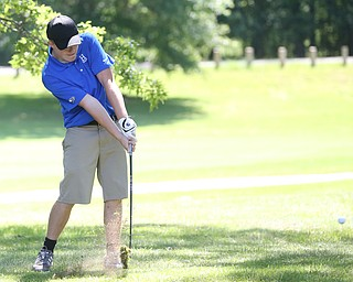 David Dull chips out of the ruff on hole 7 during the Greatest Golfer of the Valley Junior Qualifier on the North Course at Mill Creek Golf Course, Wednesday, June 28, 2017 at Mill Creek Golf Course. ..(Nikos Frazier | The Vindicator)..