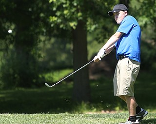 David Dull chips onto the green on hole 7 during the Greatest Golfer of the Valley Junior Qualifier on the North Course at Mill Creek Golf Course, Wednesday, June 28, 2017 at Mill Creek Golf Course. ..(Nikos Frazier | The Vindicator)..