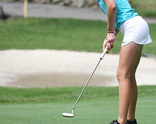 William D. Lewis The Vindictor  Jenna Jacobson putts during GGOV Jr. qualifier at Trumbull CC July 13, 2017.