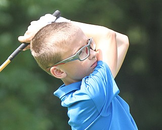 William D. Lewis The Vindictor  Caleb Domitrovich drives during GGOV Jr. qualifier at Trumbull CC July 13, 2017.