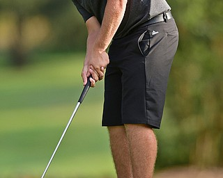 VIENNA, OHIO - JULY 21, 2017: Brian Terlesky follows through on his putt on the 16th hole, Friday evening at Squaw Creek Country Club during round one of the 17u Vindicator's Greatest Golfer of the Valley Junior Tournament. DAVID DERMER | THE VINDICATOR