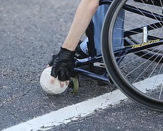 ROBERT K. YOSAY    THE VINDICATOR.  The Adaptive Sports Program of Ohio - wheelchair softball - at the Covelli Centre parking lot