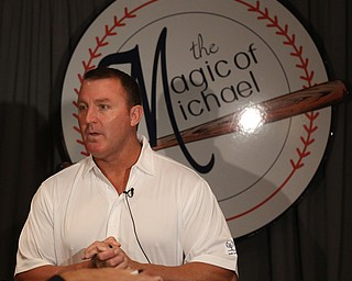 Jim Thome, former Cleveland Indians player, speaks to the media, Wednesday, Sept. 13, 2017, at the Lake Club in Poland. ..(Nikos Frazier | The Vindicator)..