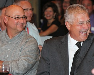 William D Lewis The vindicator  Indians Mgr Terry Francona , left, and former major league umpire John Hirschbeck share  laugh during Magic of Michael event 9-13-17 at Lake Club.