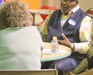 ROBERT K. YOSAY  | THE VINDICATOR..Michael Write  explains about the Opiod problems he has encountered.. First of three community meetings on the opioid epidemic, led by Your Voice Ohio. We are working with WFMJ and the WarrenTribune Chronicle -this was held at the Boys and Girls Club...-30-