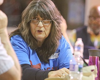 ROBERT K. YOSAY  | THE VINDICATOR..Hopeanne  Lovirinoff - Moran  from OhioCAN  talks of her experiences... First of three community meetings on the opioid epidemic, led by Your Voice Ohio. We are working with WFMJ and the WarrenTribune Chronicle -this was held at the Boys and Girls Club...-30-