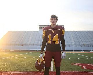 Aniello Buzzacco (14) poses for a photo during a post-season practice, Tuesday, Nov. 21, 2017, at South Range High School in Canfield...(Nikos Frazier | The Vindicator)