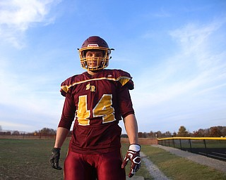 Peyton Remish (44) poses for a photo during a post-season practice, Tuesday, Nov. 21, 2017, at South Range High School in Canfield...(Nikos Frazier | The Vindicator)