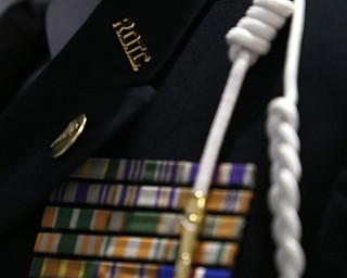 Cadet 1st. Lt. J'Quan Mitchell's ribbons and cord during a J.R.O.T.C drill practice, Thursday, Nov. 16, 2017, at East High School in Youngstown...(Nikos Frazier | The Vindicator)