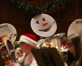 Musician's instruments were decked out for the holiday concert during a holiday craft show and third annual Tuba Christmas, Sunday, Dec. 3, 2017, at Stambaugh Auditorium in Youngstown...(Nikos Frazier | The Vindicator)