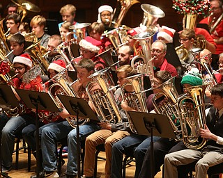 Musicians during a holiday craft show and third annual Tuba Christmas, Sunday, Dec. 3, 2017, at Stambaugh Auditorium in Youngstown...(Nikos Frazier | The Vindicator)