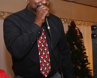 Youngstown Mayor-elect Jamael Tito Brown DJ's the 13th annual Winterfest special needs dance, Wednesday, Dec. 6, 2017, at the Mahoning Country Club in Girard...(Nikos Frazier | The Vindicator)