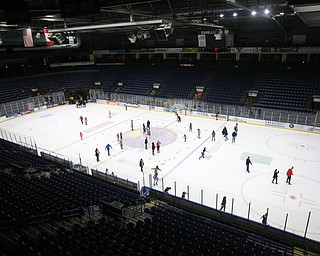 Ice skating during First Night Youngstown, Sunday, Dec. 31, 2017, at the Covelli Centre in Youngstown. ..(Nikos Frazier | The Vindicator)