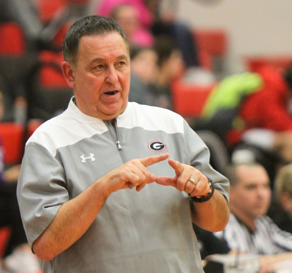 William D. Lewis The Vindicator Girard girls coach Andy Saxon logged his 400th career win against Lakeside 1-22-18  at Girard.