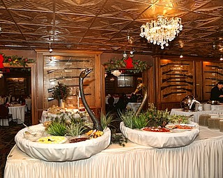 View of the lavish buffet