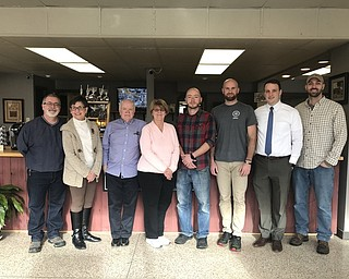 Columbiana Area Chamber of Commerce has announced the business award honorees for its 65th Annual Awards Banquet that will take place Feb. 24 at The Links Banquet Center at Firestone Farms. Park Avenue Marketplace will receive the Entrepreneur Award; Birdfish Brewing Co., the Adaptive Reuse and Upgrade Award; and RT Vernal, the Planned Unit Development Award. Above, from left, are David Perkins, Ginny Perkins, Larry and Vicki Deidrick, owners of Park Avenue Marketplace; Jared Channel and Jared Oliver, Jon and Josh Dunn, owners of Birdfish Brewing Co. For reservations or information, call the chamber office at 330-482-3822.
