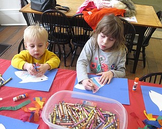 Neighbors | Zack Shively.The children at the Baby Brilliant program on Dec. 28 also did a craft where they made their own fish. The stories, songs and craft were all fish related at this week's program.