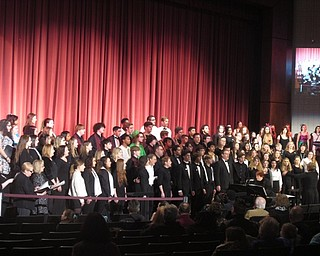 "Neighbors | Zack Shively.The Boardman high school choir sang with alumni during the school's Arts and Music Celebration on Jan. 20. They sang a number of songs including ""The First Noel"" and the school's alma mater."