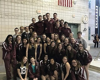 Neighbors | Submitted .The Boardman Sswim and dive team competed in the Northeast Aquatic Conference championshot at Wooster High School. The boys took first overall and the girls team placed second overall.
