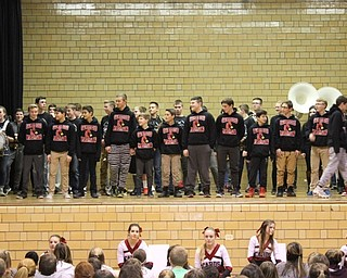 Neighbors | Abby Slanker.The Canfield Village Middle School seventh- and eighth-grade wrestling teams were recognized at the school's annual Winter Sports Pep Assembly Jan. 26.